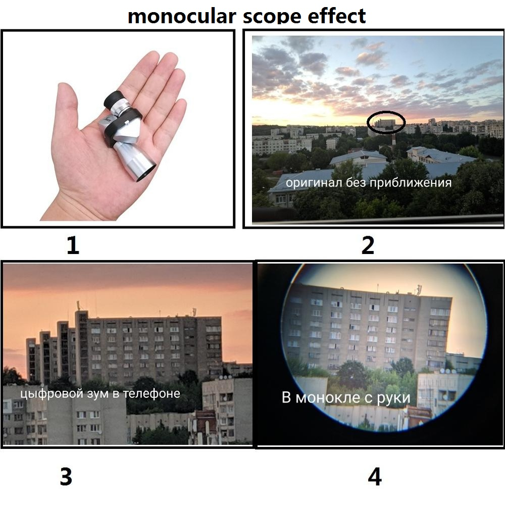Image 5 - Mini Pocket 8X20 Silver Monocular Telescope Mini Monocular with Magnifying Hood Mini Microscope Telescope+Magnifier=Microscope-in Monocular/Binoculars from Sports & Entertainment