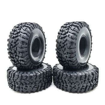 4PCS 120MM 1.9INCH Rubber Rocks Tyres Wheel Tires for 1:10 RC Rock Crawler Axial SCX10 90047 D90 D110 TF2 TRX-4