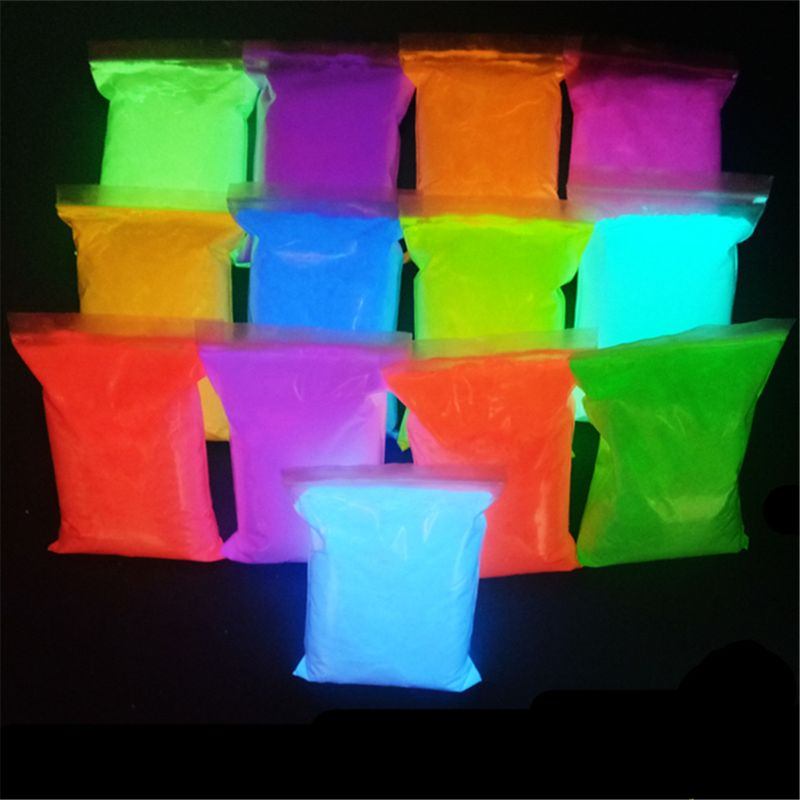 14 Colors Acrylic Paint Glow In The Dark Gold Glowing Paint Luminous Pigment Fluorescent Powder Painting For Nail Art Supplies