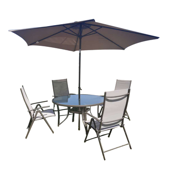 Outdoor Funiture Suit Portable Chair  Lightweight Fishing Camping BBQ Chairs Garden Foldable Table Umbrella