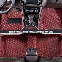 Custom Car Floor Mats For TOYOTA Corolla H E160 Corolla E120 E150 1990 2014 2015 2016 2017 2018 2019 auto carpet car styling