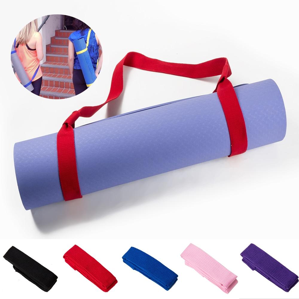 Yoga Mat Strap Belt Adjustable Sports Sling Shoulder Carry Multi-function Exercise Fitness Elastic Yoga Stretch Belt D30