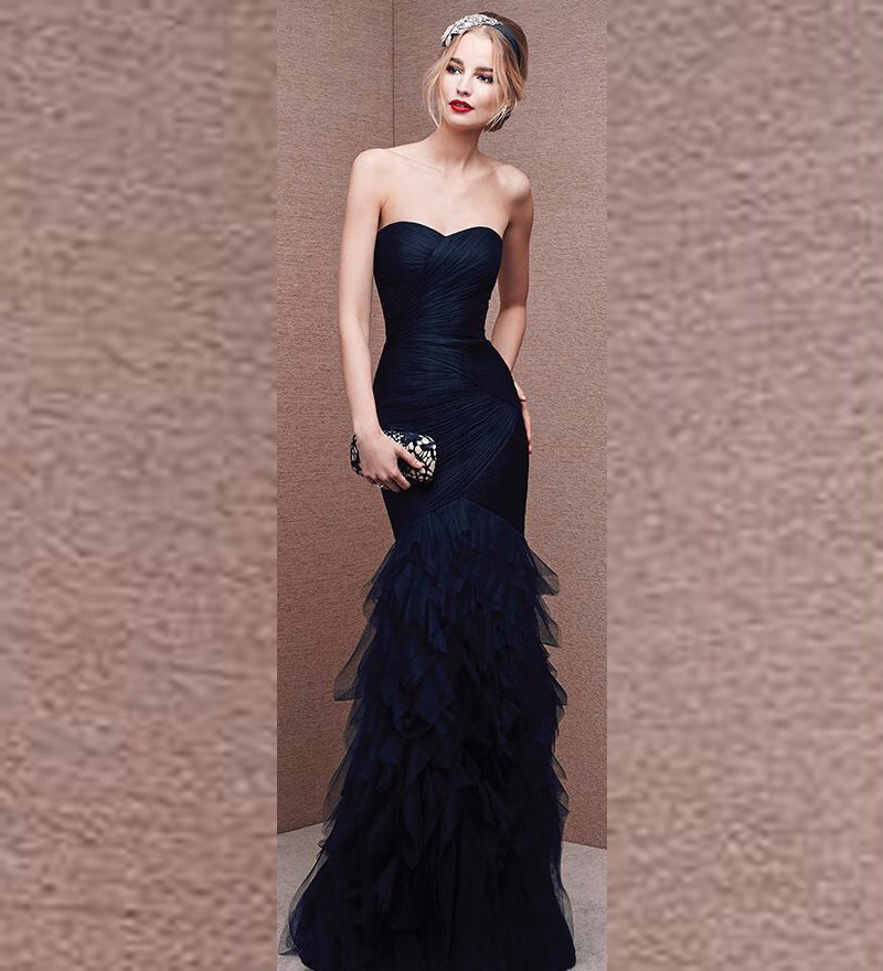 Vestido De Festa Longo Mermaid Evening Gown Elegant Pleat Sweetheart Women Formal With Ruffle Skirt Mother Of The Bride Dresses