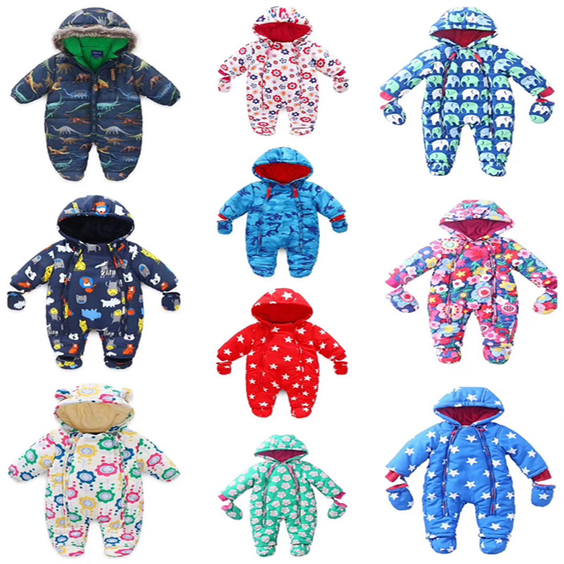 2019 New Winter Baby   Romper   Newborn Colorful Warm Autumn Overalls Baby Snowsuit Hot Baby Suit Cute Hooded Baby Jumpsuit   Romper