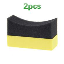 2pcs Multifunctional Car Wheels Brush Tire Hub Waxing Sponge Cleaner Polishing Brush Interior Cleaning Tools Auto Accessories cheap JOSHNESE