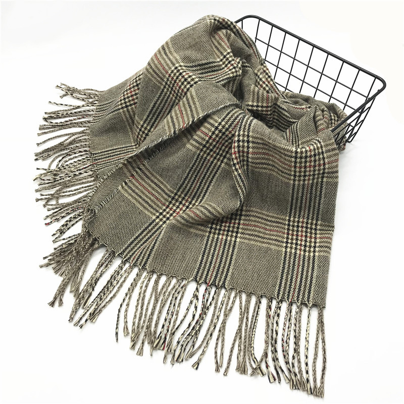 Spring And Autumn Polyester Cotton Scarf Popular New Style Garment Accessories Solid Color Modern And Trendy/women Faux Cashmere