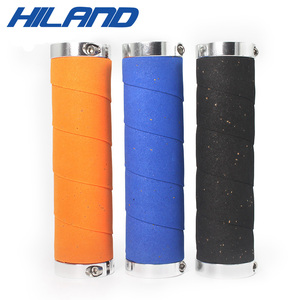 HILAND Soft EVA PU Bicycle Lock-on Grips l Handlebar Cover with Cork Sweat Absorb Grips MTB Mountain Folding City Bike