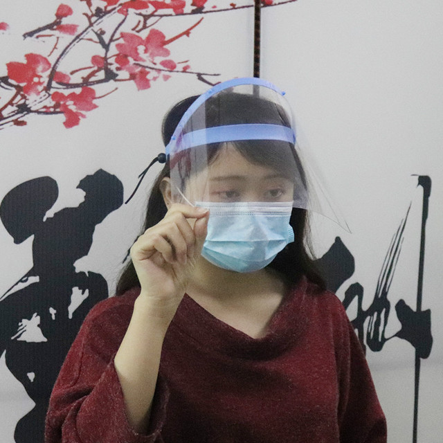 Protective Adjustable Anti Droplet Dust Saliva -proof Full Face Cover Mask Droplet virus Windproof Face Shield Washable 5