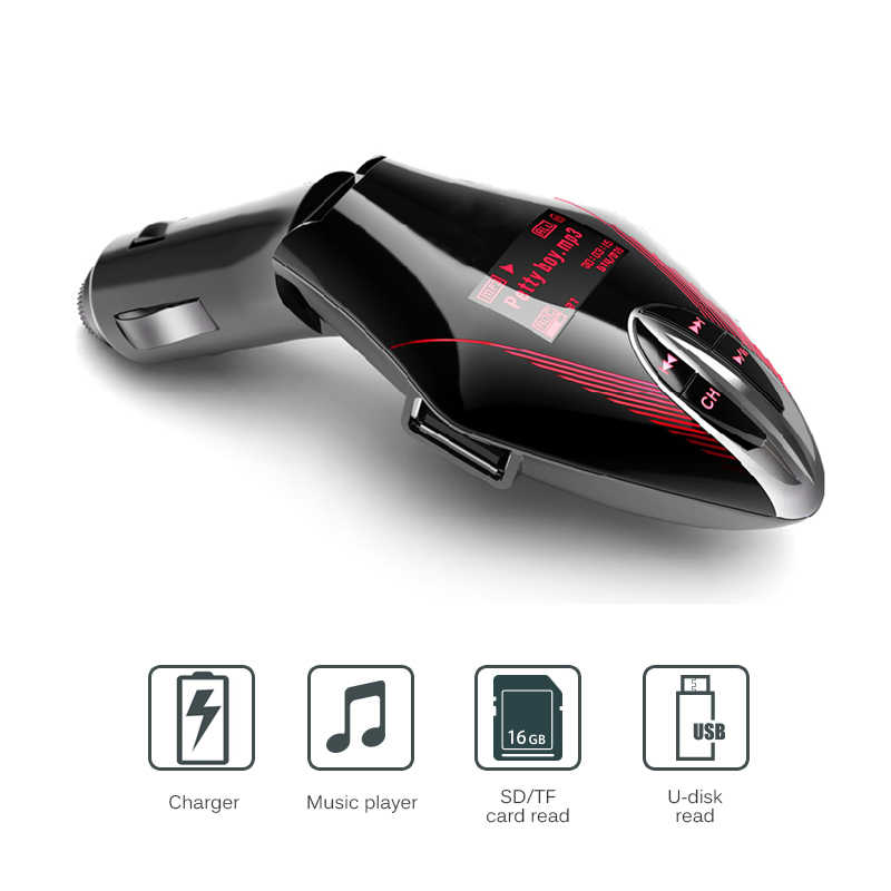 Tioodre Mobil Mp3 Pemain Kit LCD Layar MP3 Player Wireless FM Transmitter Radio Modulator SD Pemutar Musik