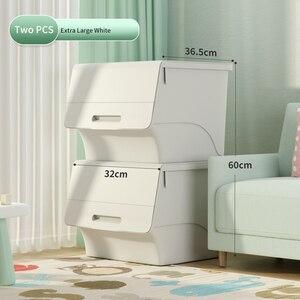 JOYBOS ящик для хранения дома с фронтальным открыванием удобно и стабильно утолщенные детские игрушки ящик для хранения закусок шкафчик для хранения документов (JX19