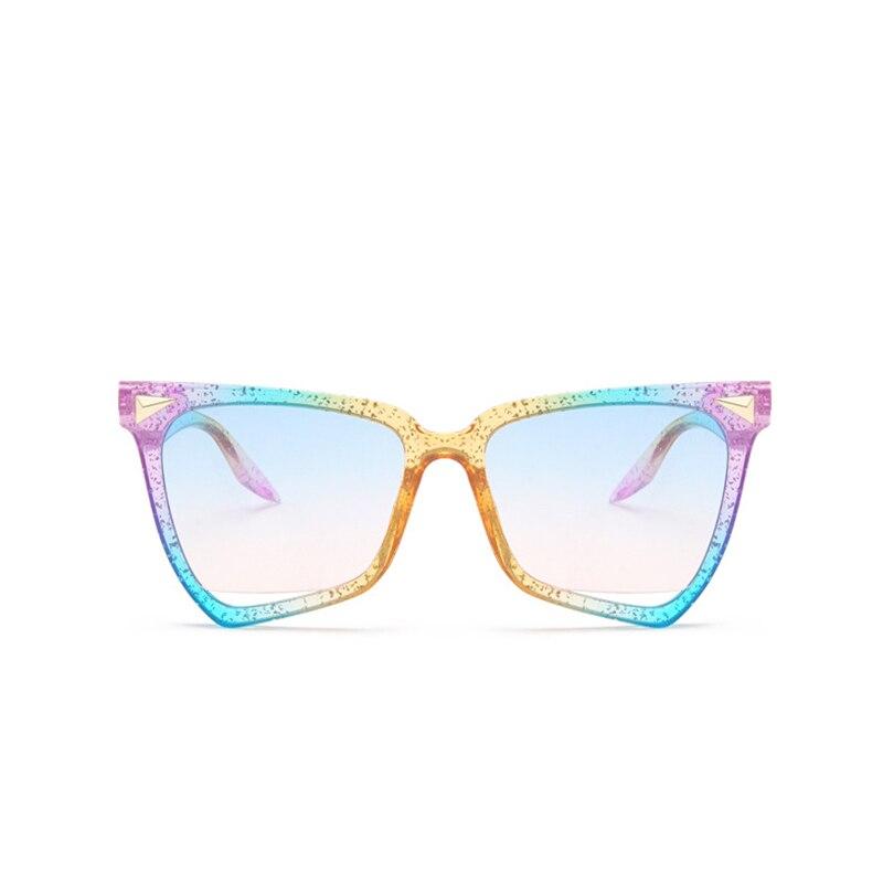 Color Sunglasses Retro Transparent Fashion Women's Hollow The Wild And Europe