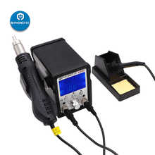 PHONEFIX 999D Lead-free Soldering Iron Station 2 in 1 Electric Soldering Iron Kit Hot Air Welding Soldering Repair Tool