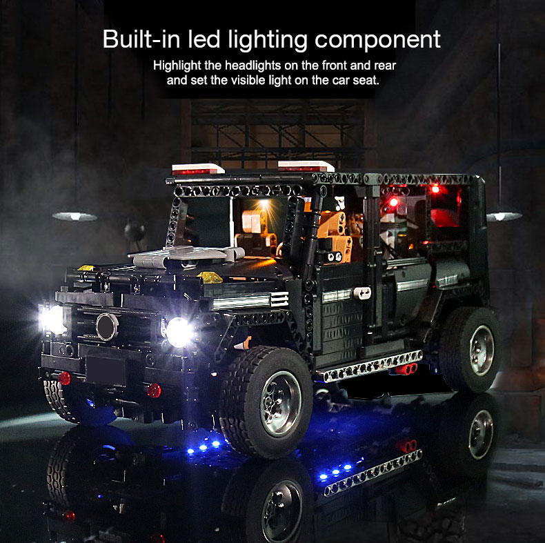 New APP RC G-Glass G500 AWD Wagon SUV Vehicle Fit Technic MOC 2425 Motor Power Function Building Blocks Bricks Toy Kid Birthday 27