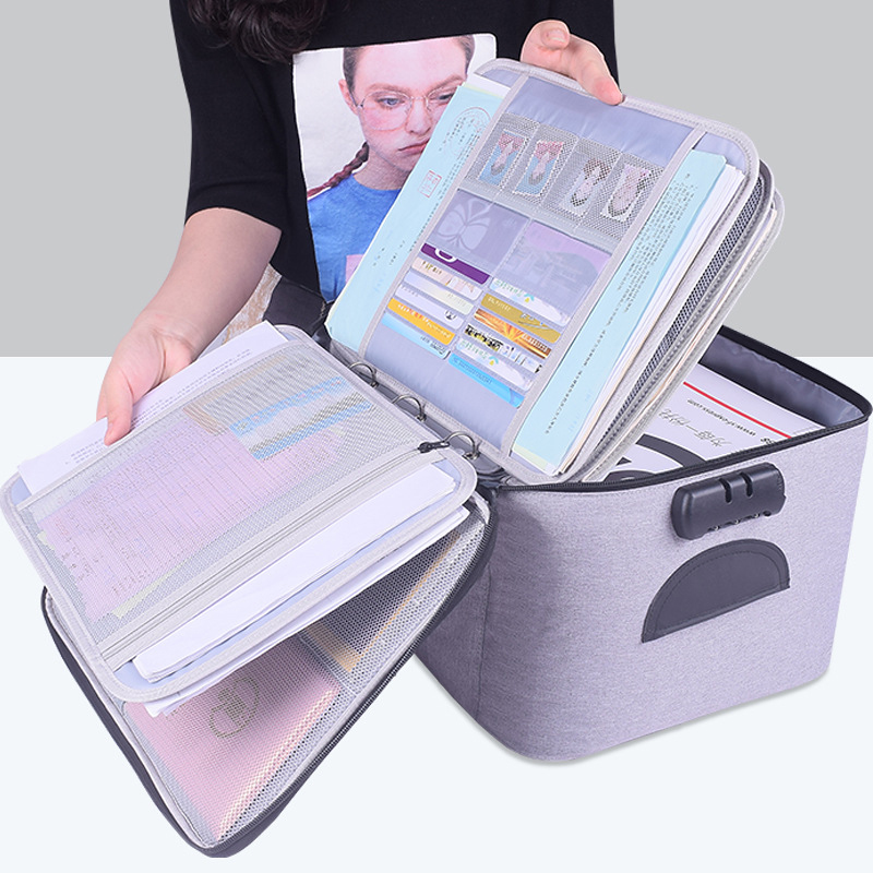 Waterproof Certificate Bag Oxford Document Organizers Box Large Capacity Card ID Holder Travel Bags For Files Passport Valuables