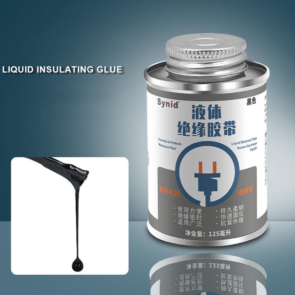 30ml líquido isolação fita colar impermeável anti-uv fita circuito placa seca chama rápida solda cola líquido selo rápido reta i1m2
