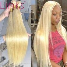 Links 28 30 Polegada 613 loira cabelo brasileiro mel loira 1 3 4 pacotes reta remy tecelagem trama do cabelo humano frete grátis