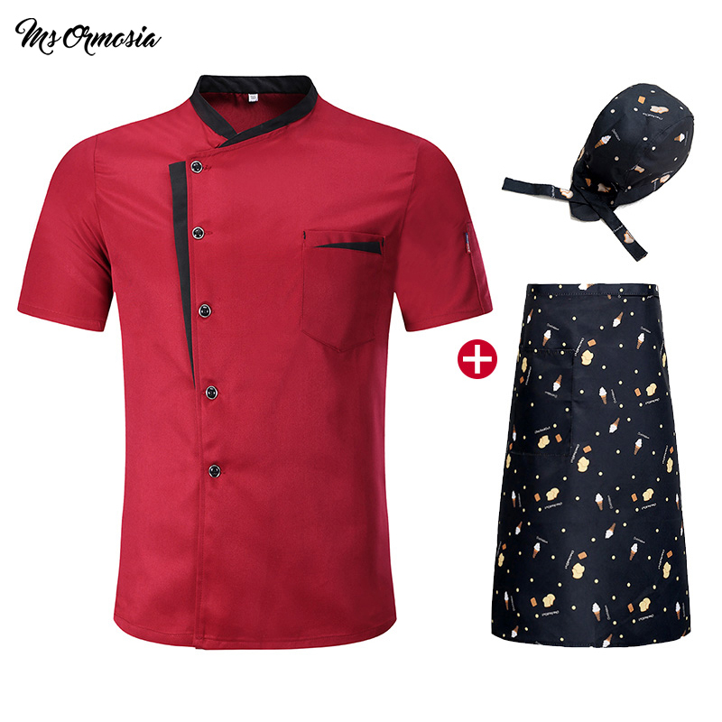 High Quality Chef Clothes Cool Breathable Bakery Dessert Women Men Summer Shirt Barbershop Cook Kochjacke Kitchen Hotel Uniform