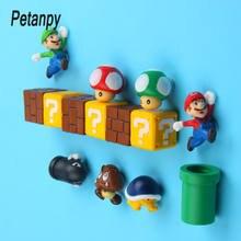 Aimants de réfrigérateur 3D Super Bros, autocollants de Message, pour adultes, hommes, filles, garçons, enfants, jouet, cadeau d'anniversaire, 10 pièces