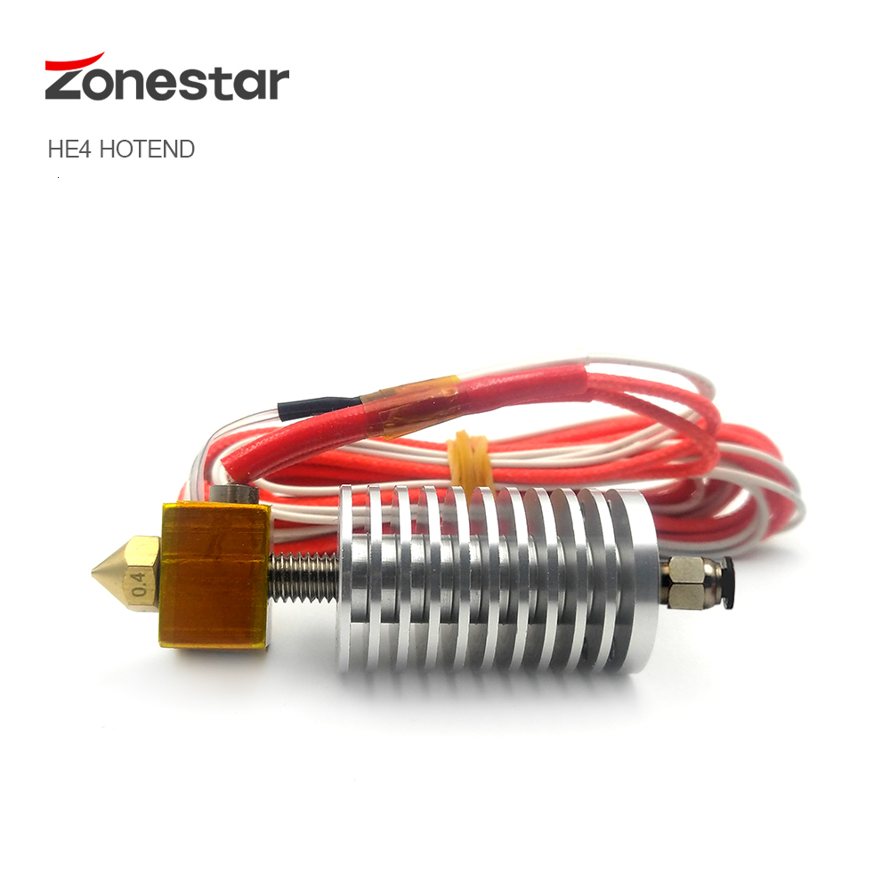 Upgrade Single Color Hotend Extruder Nozzle 0 4mm 1 75mm Filament Diameter 3D Printer Accessories Parts J Head HE3D HE4 ZONESTAR
