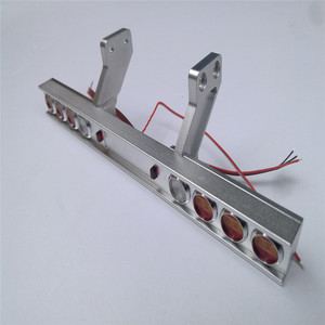 Image 3 - Trasporto Camion Del Metallo Fanale Posteriore Modificato Luce per Tamiya 1/14 Trattori 56319 56330 RC Parti del Camion Accessori