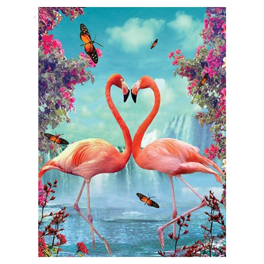 New 5D Diamond Painting Full Drill Diamond Rhinestones the Flamingo