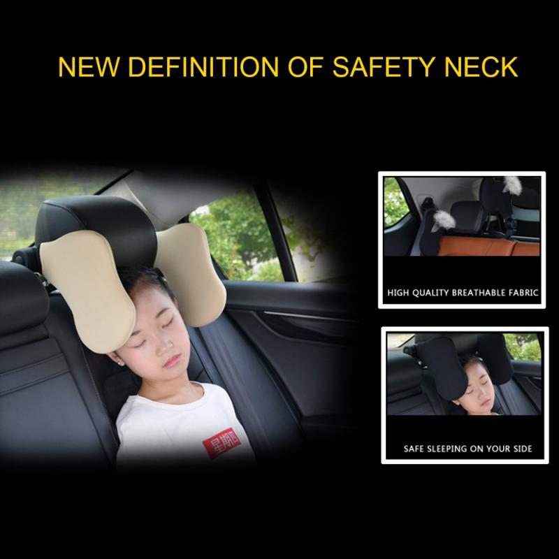 Car Supplies Children's Sleep Side By Neck Pillow New Car Travel Headrest Retractable Support On Sides For Kids & Adults