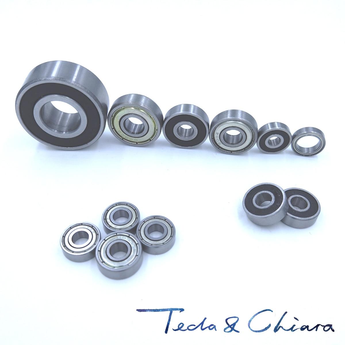 5x11x4 mm Rubber Sealed Ball Bearing Bearings BLACK MR115RS 100PCS MR115-2RS