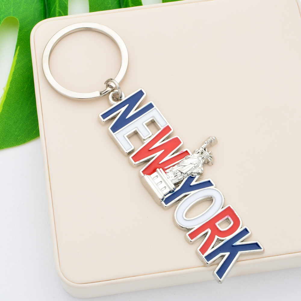 Vicney Fashion Colorful New York Keychain High Quality Zinc Alloy Statue Of Liberty Key Chain For Key US Travel Souvenir Keyring