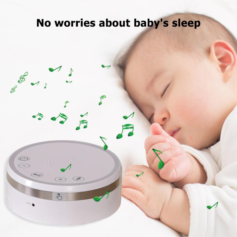 Portable White Noise Sleep Instrument Decompression Hypnotic Home Sleep Monitor Aid With Multifunctional Timing Breathing Light