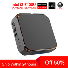 ACEPC CK2 Intel Core Mini PC i7 7500U i5 7200U i3 7100U Mini Pc Windows10 Linux Gigabit WiFi  HDMI VGA 6*USB 4K Gaming Mini Pc