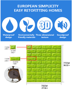 Image 2 - 3D Wall Stickers Imitation Brick Bedroom Decor Waterproof Self adhesive Wallpaper For Living Room Kitchen TV Backdrop Decor70*77
