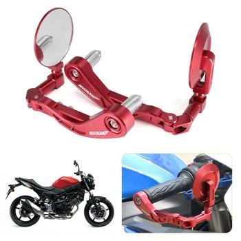 Red 22mm Motorcycle Handlebar Brake Clutch Levers Protector Guard Folding Side Mirror Aluminum For Yamaha Suzuki Honda DDD D25