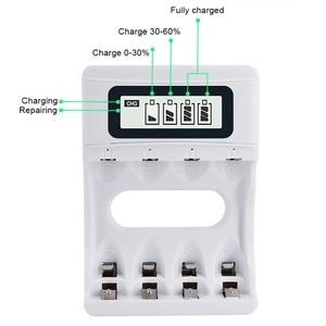 Image 2 - حار! ذكي 4 فتحات الذكية LCD شاحن بطارية USB قابل لإعادة الشحن شاحن لبطاريات AA / AAA NiCd NiMh قابلة للشحن