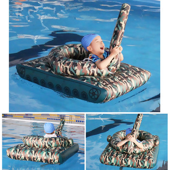 125cm Children Inflatable Tank Water Riding Floating Row Summer Pool Air Mattresses Floating Bed Play Water Toys