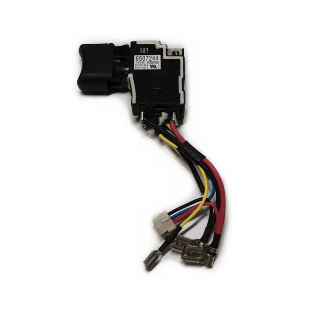 スイッチ6507244 650724 4 650682 4 6506824の交換マキタDHP458 DHP448 DDF458 DDF448 BHP458 BHP448 BDF458ネジドライバ