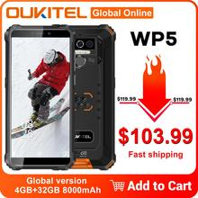 OUKITEL WP5 IP68 Waterproof Smartphone 32GB 4gbb LTE/WCDMA/GSM Adaptive Fast Charge Gorilla Glass