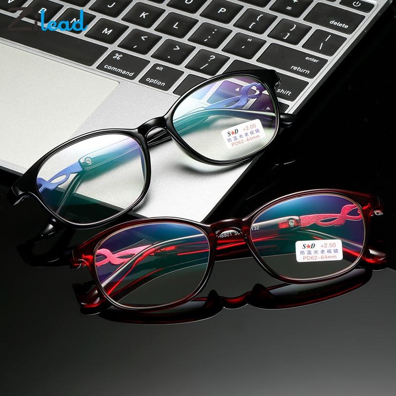 Zilead Women Anti Blue Rays Reading Glasses Vintage Presbyopia Eyeglasses Fashion Flower Diopter +1.5 +.2.0+2.5+3.0 +3.5 +4.0