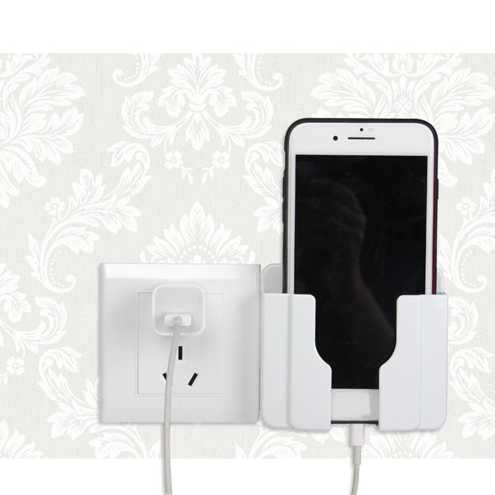 Украшение дома настенный держатель для телефона во время зарядки розетка зарядное устройство Коробка для хранения держатель мобильного телефона универсальная подставка дисплей Поддержка
