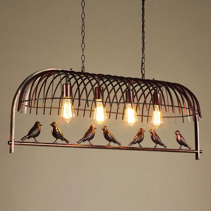 Купить ретро креативная светодиодсветодиодный подвесная лампа в виде