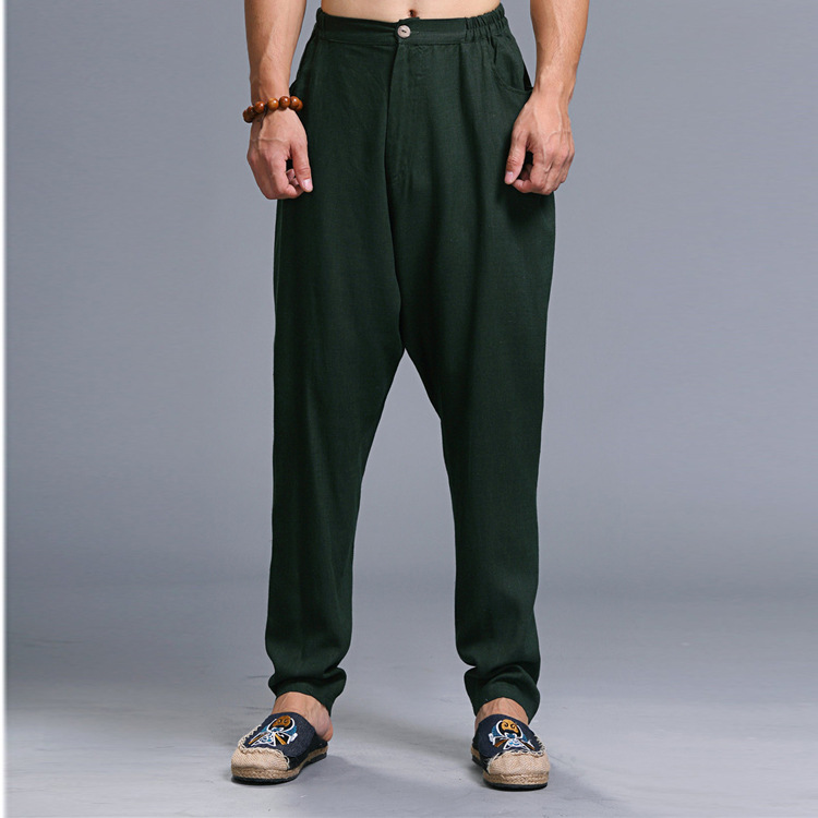 Ma Fan 2019 Spring And Summer New Style Ethnic-Style Harem Fashion Harem Pants Trend Men Flax