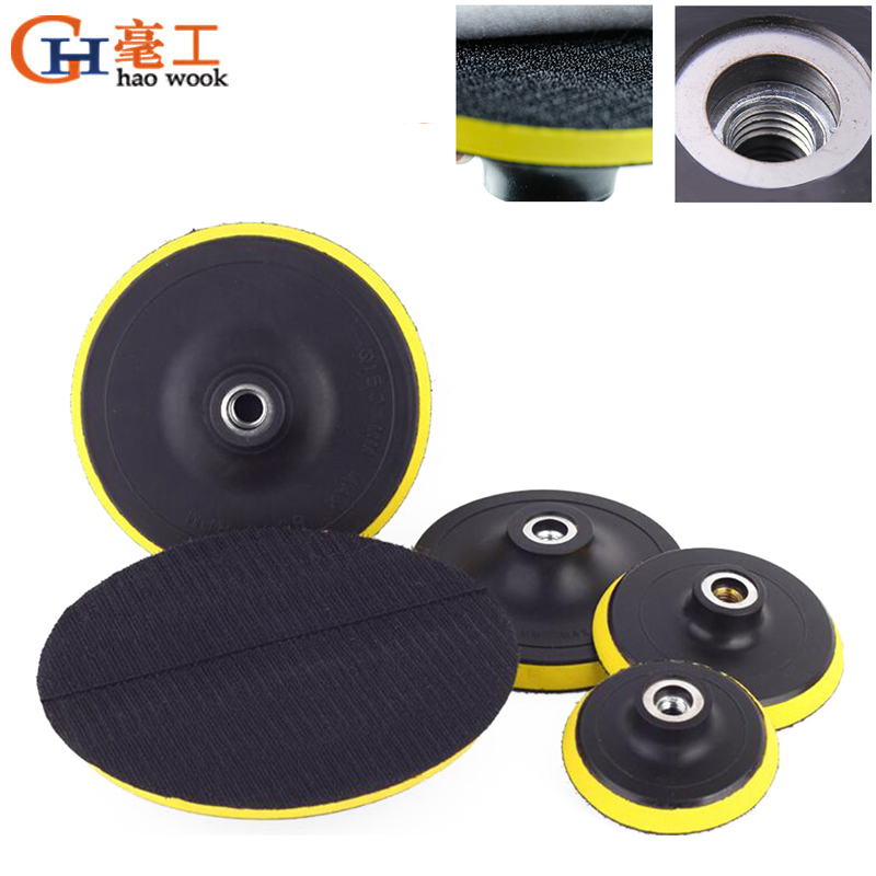Haowook 80-180mm Polishing Self-adhesive Disc Polishing Sandpaper Sheet Adhesive Disc Chuck Angle Grinder Sticky Plate For Car