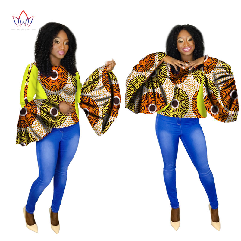 2020 Summer Favourite Sale African Womens Clothing 6xl Dashikis Other Sexy Club Tops O-neck Plus Size Cotton None Print WY1505