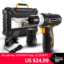 DEKO Power-Driver Battery Cordless-Drill 2-Speed Lithium-Ion Mini DC Wireless Max 3/8-Inch