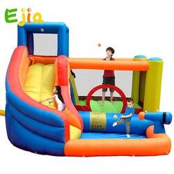Высокое качество маленькие прыжки надувной прыгающий замок надувной замок-батут дети с системой брызг воды