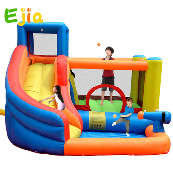 High Quality Small Jumping Inflatable Bouncing Castle Bouncy Castle Bouncer Inflatable Castle Kids With Water Splash system