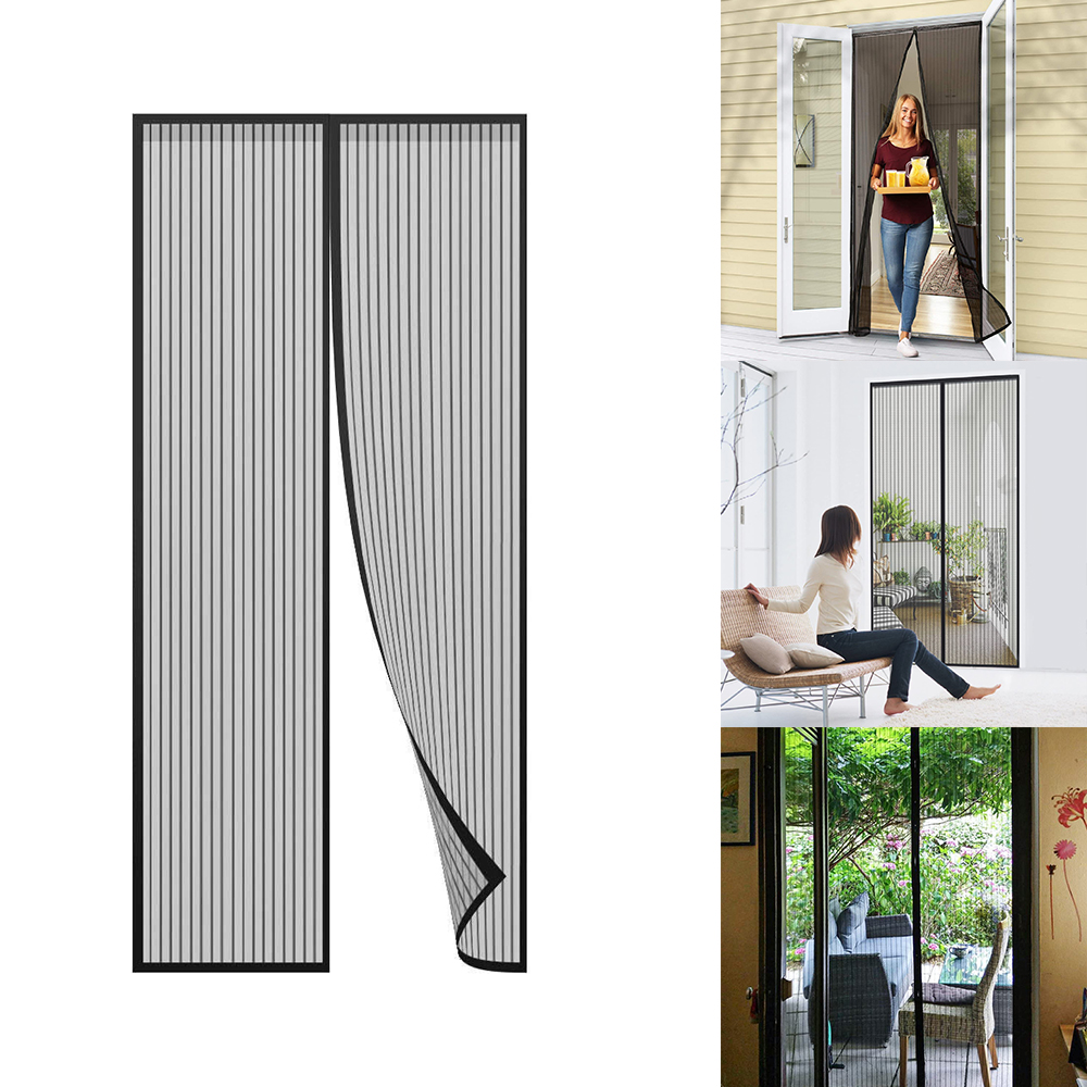 Easy to Install Without Drilling White Magnetic Fly Insect Screen Door Fly Screen Door Apply to Living Room and Patio Doors are Automatically Closed by Insect Screens