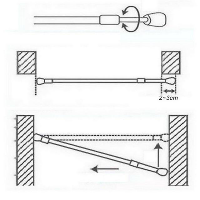 Adjustable Telescoping Shower Curtain Rods 5