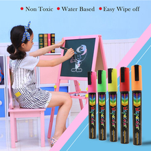 цены Chalkboard Chalk Markers ,Pack of 8 Classic Neon color pens Dust Free Water-Based Non-Toxic Wet Erase Chalk Ink Pen