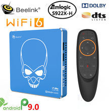 Beelink GT-King Pro Smart Tv Box Amlogic S922X-H Android 9,0 4 Гб 64 Гб WI-FI 6 1000M LAN BT5.0 4K Dolby аудио DTS Декодер каналов кабельного телевидения