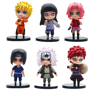 6pcs/lot Anime Naruto Action Figure Toys Zabuza Haku Kakashi Sasuke Naruto Sakura PVC Model Collection Kids Toys(China)